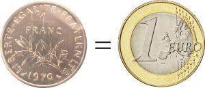 Franc=euro