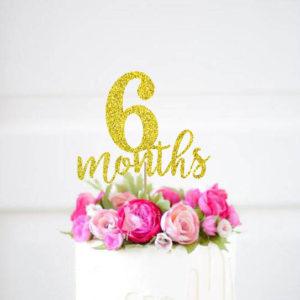 6-months-cake-topper-1-2-Birthday-Gold-Glitter-Topper-Half-Birthday-Cake-Topper-Glitter-Banner.jpg_640x640