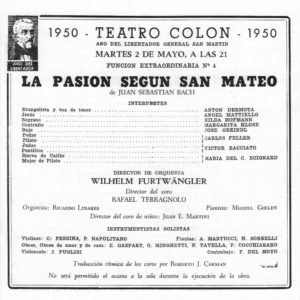 Saint-Matthieu Teatro Colon